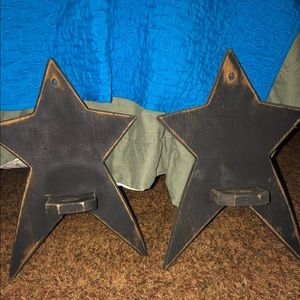 Other - Primitive Country Star Candle Holders